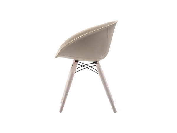 Gliss Wood Leather Chair