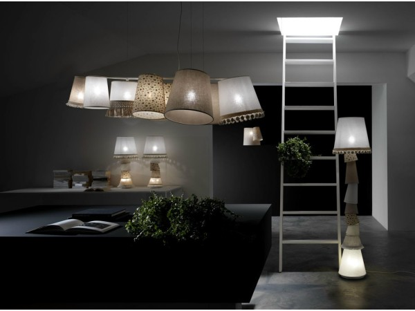 Margò table lamp by Karman Italia in living room ambient