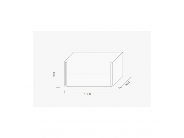Lema Luna Low Drawer Unit