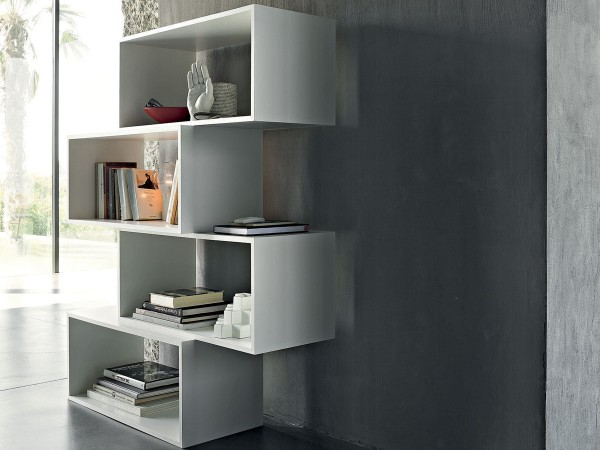 Zigzag bookcase by Lema