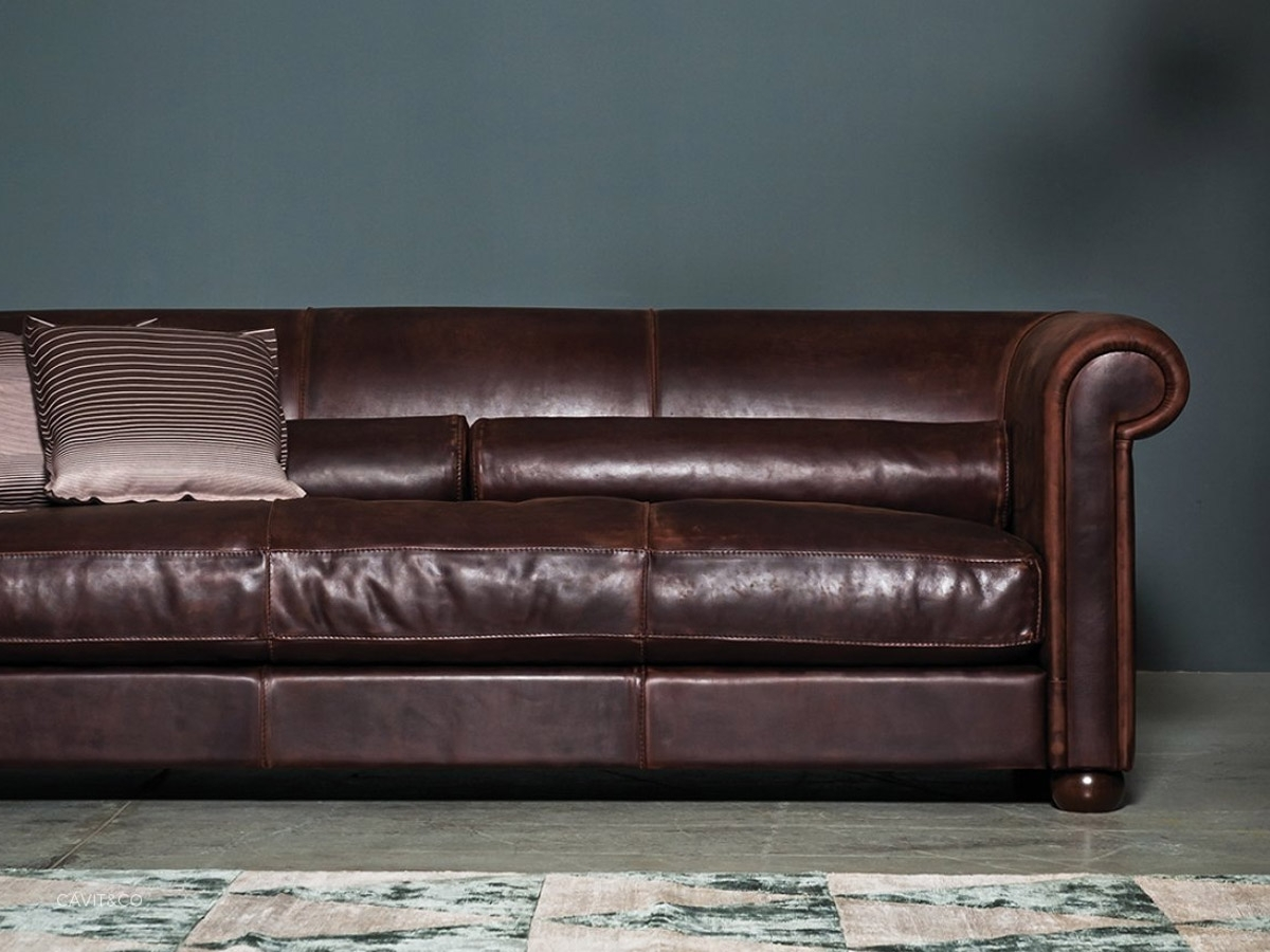 Alfred Leather Sofa by Baxter