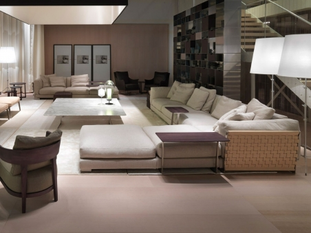 Cestone sofa Flexform for living room