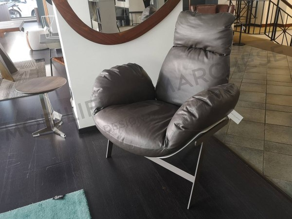 Grey Jupiter Lite armchair Arketipo on sale at discounted price