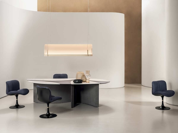 Ronchamp table by Baxter in a luxury dining room