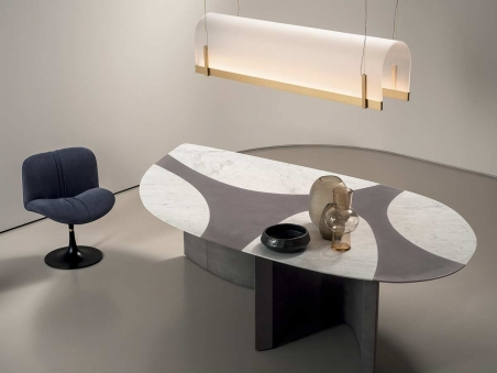 New Ronchamp table by Baxter