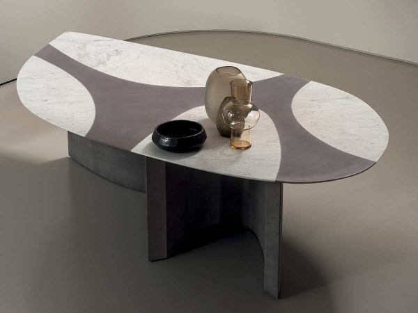 Detail of a Ronchamp table by Baxter