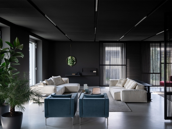NeoWall Sofa Living Divani in a luxurious living room
